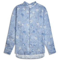 Stenstroms Shirt - Floral Denim - Burrows and Hare