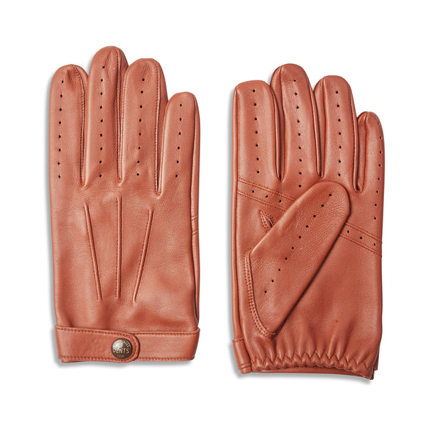DENTS Fleming James Bond Spectre Leather Driving Gloves - Highway Tan - Burrows and Hare