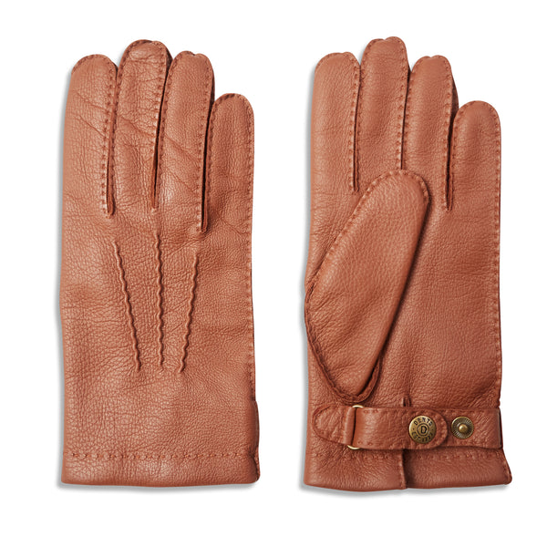 DENTS Canterbury Cashmere Lined Deerskin Leather Gloves - Havana - Burrows and Hare