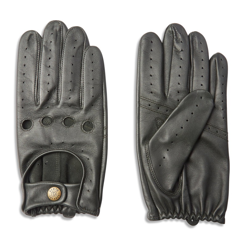 Dents Delta Classic Leather Driving Gloves - British Racing Green - Burrows and Hare
