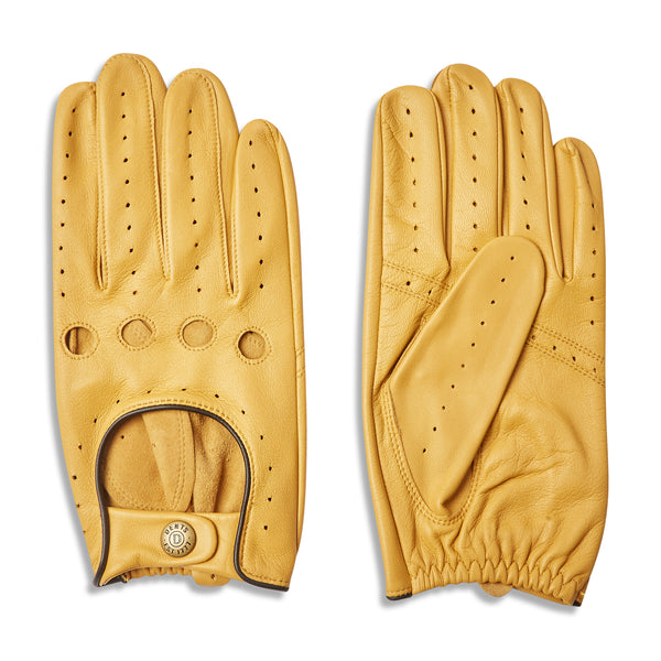 Dents Delta Classic Leather Driving Gloves - Cork with Black - Burrows and Hare