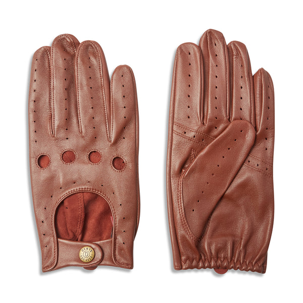 Dents Delta Classic Leather Driving Gloves - English Tan - Burrows and Hare