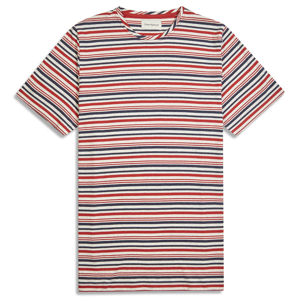 Oliver Spencer Conduit T-Shirt Farrell - Red - Burrows and Hare