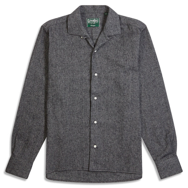 Gitman Bros. Herringbone Overshirt - Grey - Burrows and Hare