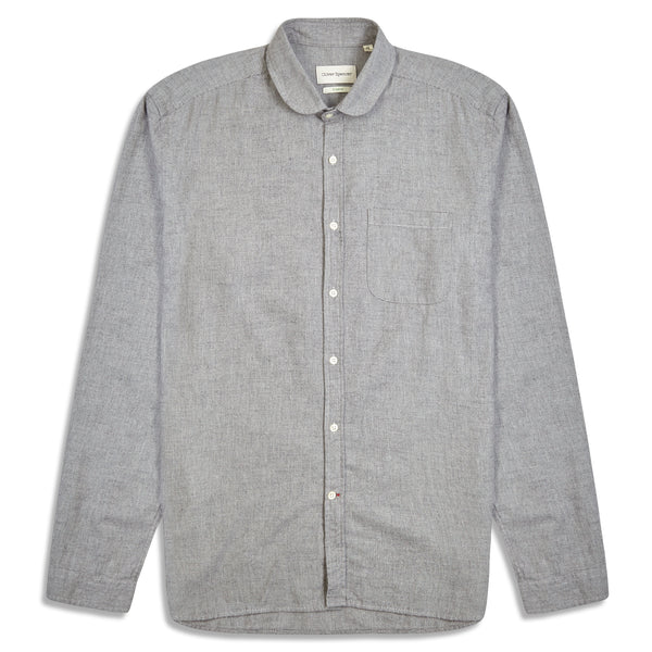 Oliver Spencer Abbingdon Eton Collar Shirt - Grey - Burrows and Hare