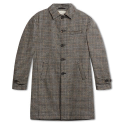 Oliver Spencer Wickham Houndstooth Grandpa Coat - Oatmeal - Burrows and Hare