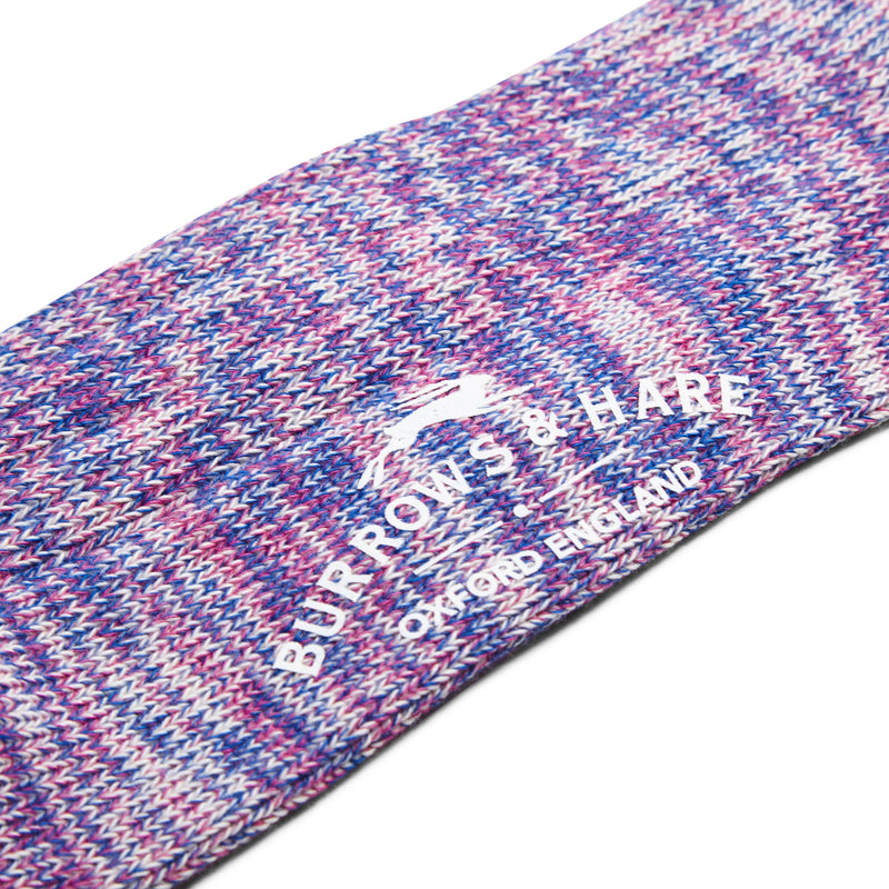 Burrows and Hare Woven Socks - Purple and Pink - Burrows and Hare