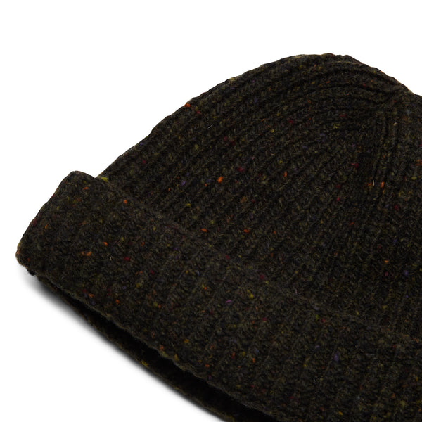 Burrows & Hare Donegal Beanie Hat - Forest - Burrows and Hare