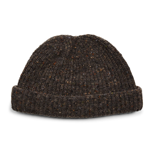 Burrows & Hare Donegal Beanie Hat - Charcoal - Burrows and Hare