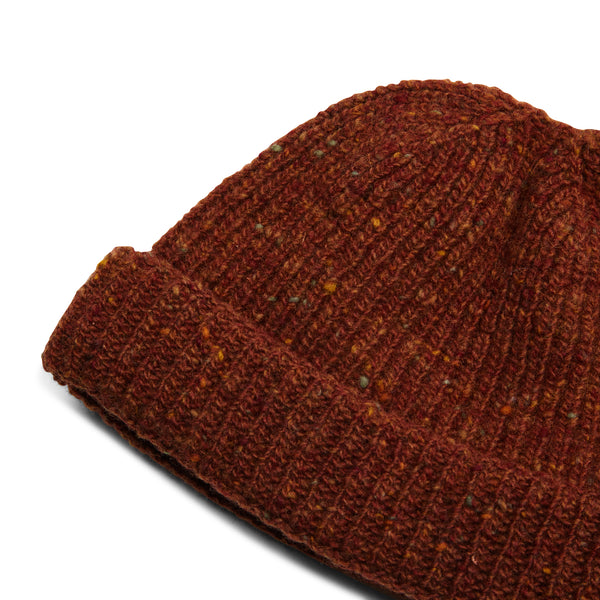 Burrows & Hare Donegal Beanie Hat - Rust - Burrows and Hare