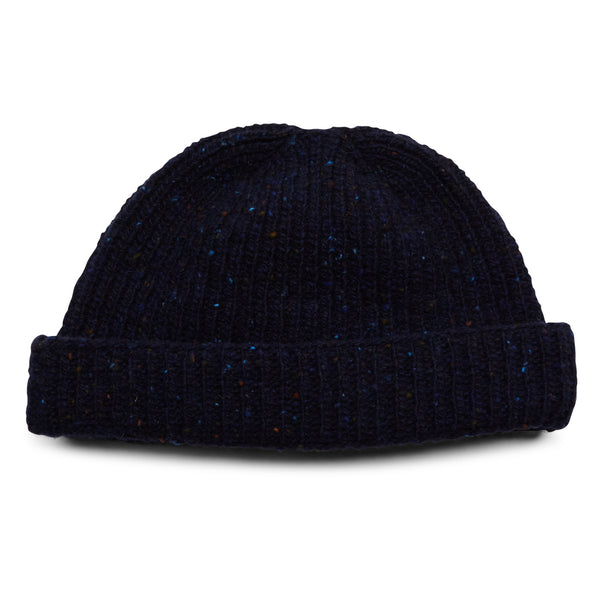 Burrows & Hare Donegal Beanie Hat - Navy - Burrows and Hare