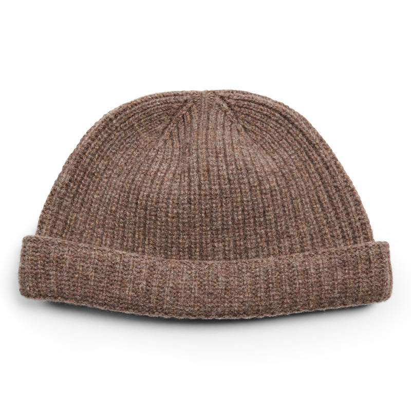 Burrows & Hare Lambswool Beanie Hat - Taupe - Burrows and Hare