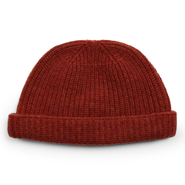 Burrows & Hare Lambswool Beanie Hat - Rust - Burrows and Hare