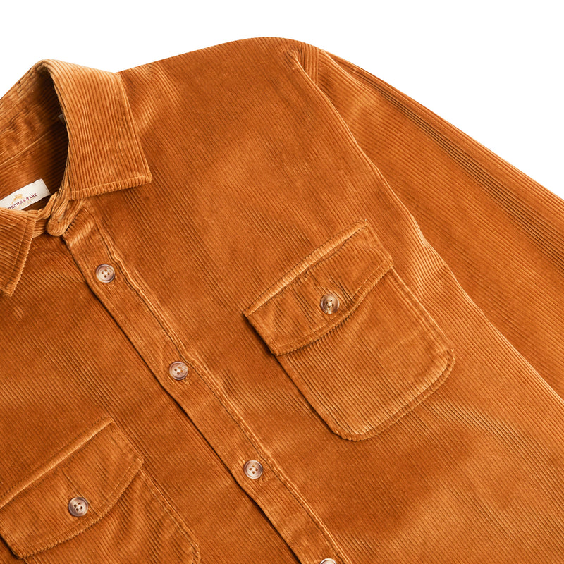 Burrows & Hare Cord Over Shirt - Mustard - Burrows and Hare