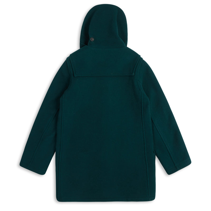 Burrows & Hare Water Repellent Wool Duffle Coat - Racing Green - Burrows and Hare