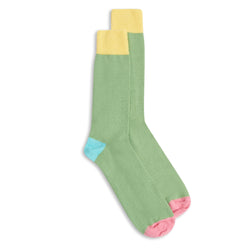 Burrows & Hare Fourway Socks - Apple Green - Burrows and Hare