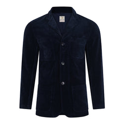 Burrows and Hare Cord Blazer - Navy - Burrows and Hare