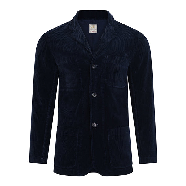 Burrows and Hare Cord Jackets - Navy - Burrows and Hare