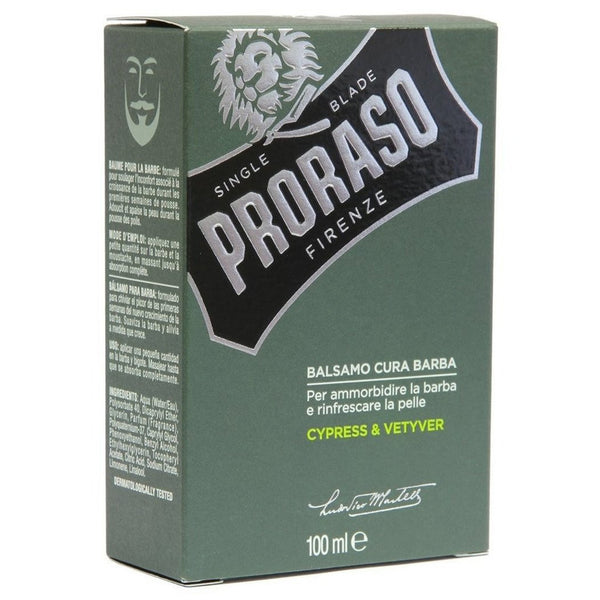 Proraso Scented Daily Use Refreshing / Softening Beard Balm - Cypress Vetiver - Burrows and Hare