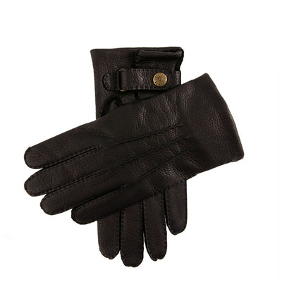DENTS Canterbury Cashmere Lined Deerskin Leather Gloves - Black