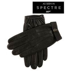 DENTS Fleming James Bond Spectre Leather Driving Gloves Black - Burrows and Hare