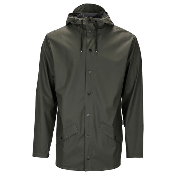 Rains Waterproof Jacket - Khaki Green - Burrows and Hare