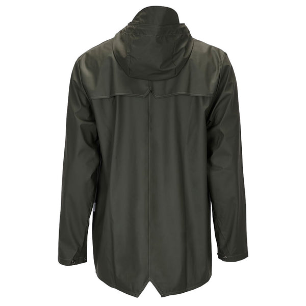 Rains Green Waterproof Unisex Rains Jacket - Burrows and Hare