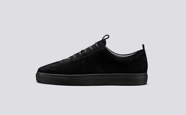 Grenson Sneaker 1 - All Black Suede - Burrows and Hare