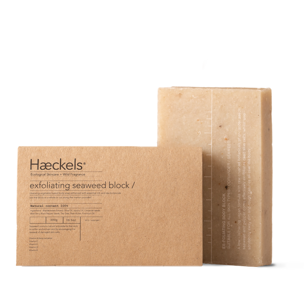 Large Exfoliating Vegan Seaweed Block - Burrows and Hare