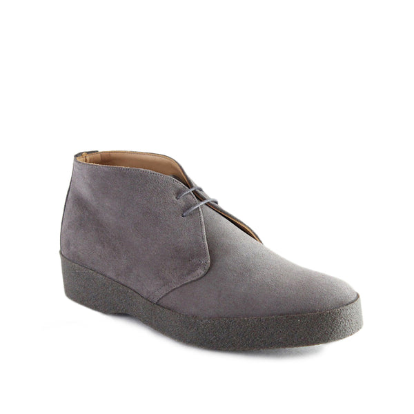 Sanders Suede Chukka Boots with Crepe Sole - Grey - Burrows and Hare