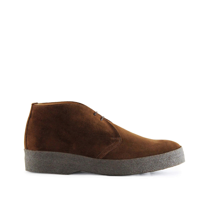 Sanders Suede Chukka Boots with Crepe Sole - Polo Snuff - Burrows and Hare