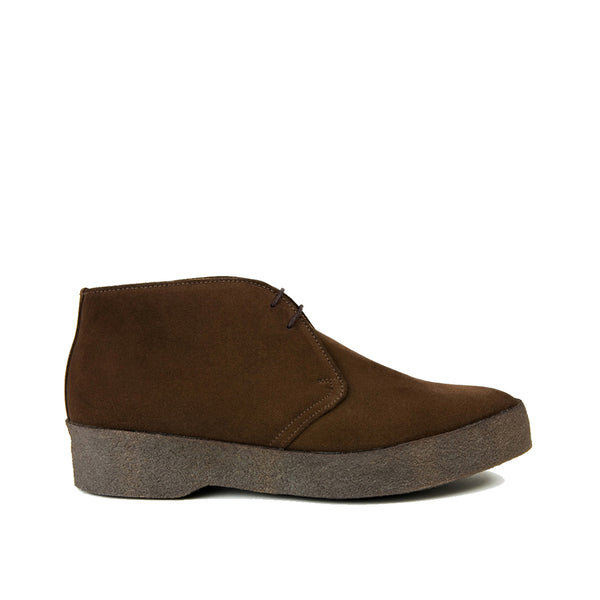 Sanders Suede Chukka Boots with Crepe Sole - Dark Brown - Burrows and Hare