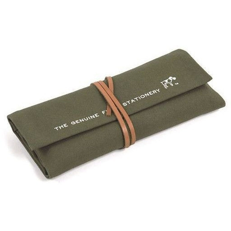 Hightide Field Roll Pencil Case - Khaki Green - Burrows and Hare