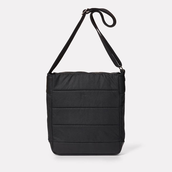 Ally Capellino Jonny Waxed Cotton Satchel - Black - Burrows and Hare