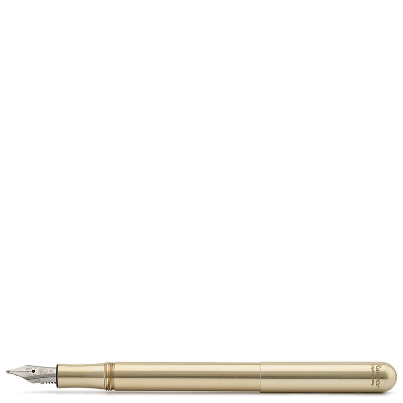 Kaweco Brass Liliput Portable Fountain Pen - Burrows and Hare