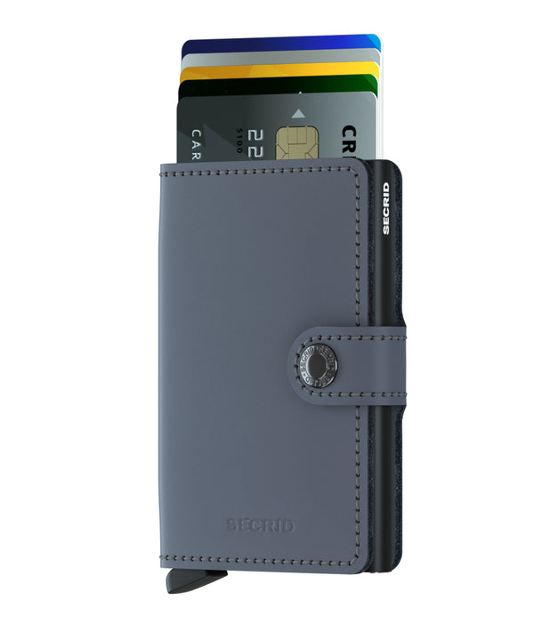 SECRID Grey Black RFID 'Matte' Miniwallet - Burrows and Hare