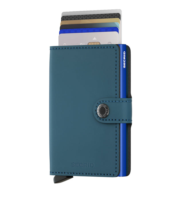 SECRID RFID Miniwallet - Matte Petrol - Burrows and Hare