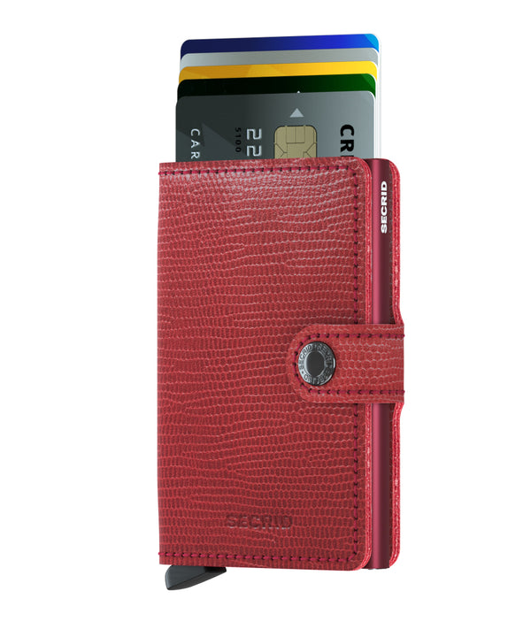 SECRID RFID Miniwallet - Rango Red / Bordeaux - Burrows and Hare