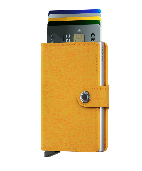 SECRID RFID Miniwallet - Crisple Amber - Burrows and Hare