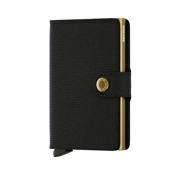 SECRID RFID Miniwallet - Crisple Black / Gold - Burrows and Hare