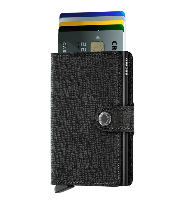 Secrid 'Crisple' Black Miniwallet - Burrows and Hare