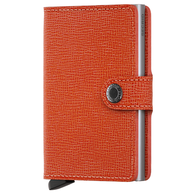 SECRID Orange RFID 'Crisple' Miniwallet - Burrows and Hare