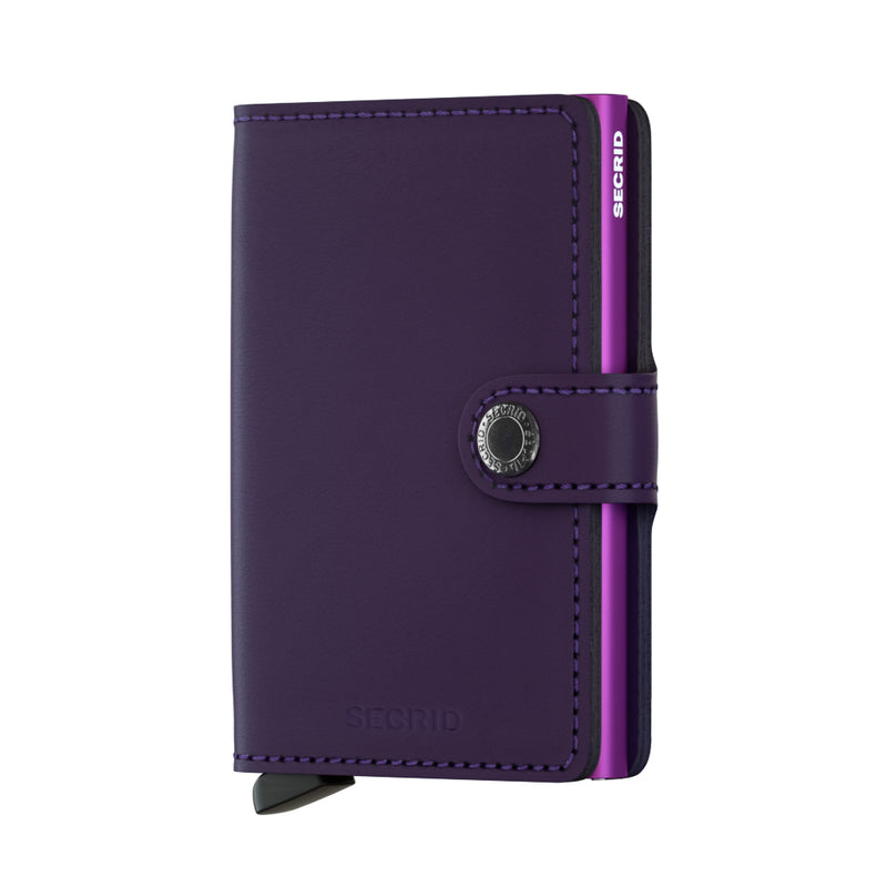 SECRID RFID Miniwallet - Matte Purple - Burrows and Hare