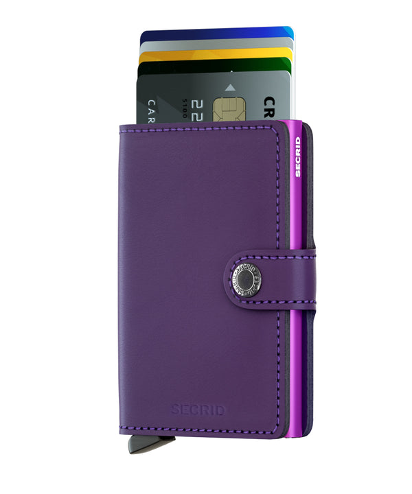 SECRID Purple RFID 'Matte' Miniwallet - Burrows and Hare