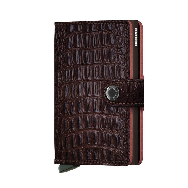 SECRID Miniwallet Nile Brown - Burrows and Hare