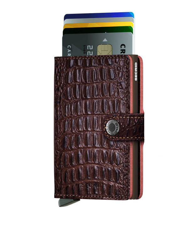 SECRID RFID Miniwallet - Nile Brown