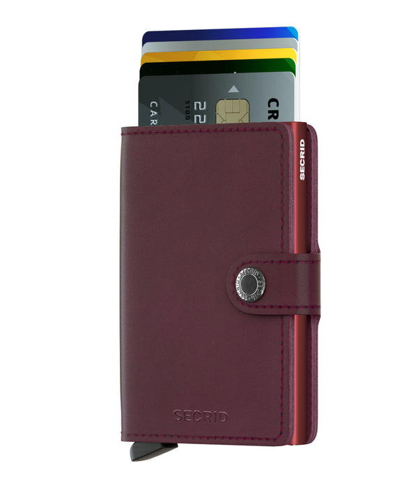 SECRID RFID Miniwallet - Original Bordeaux - Burrows and Hare