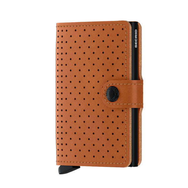 SECRID Perforated Cognac Miniwallet