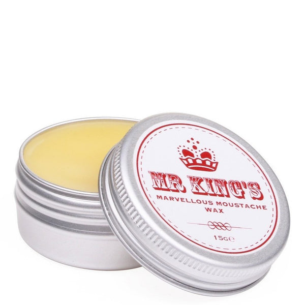 Mr Kings Lemon & Lime Scented Natural Moustache Wax - Burrows and Hare