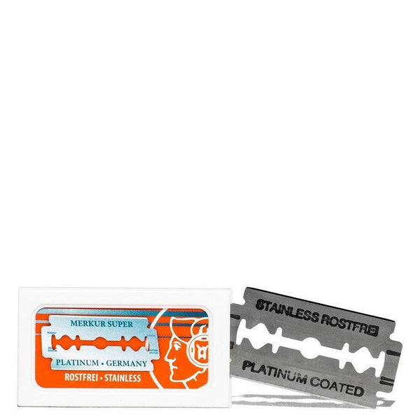 Merkur Stainless Platinum Double Edge Razor Blades - Burrows and Hare